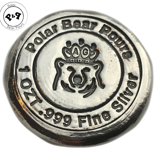 1 OZT crowned bear round
