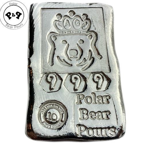 10 OZT 2nd Gen .999 fine silver hand poured bar!