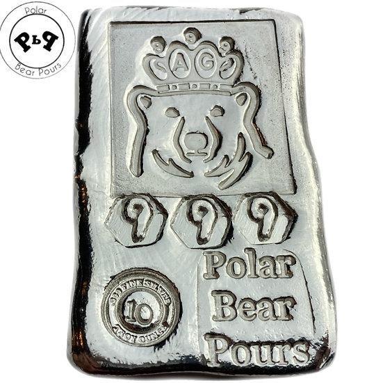 2nd Gen 10 OZT .999 fine silver hand poured bar!
