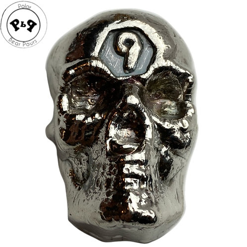 "5 Troy OZ ""9"" SKULL by PBP with COA"