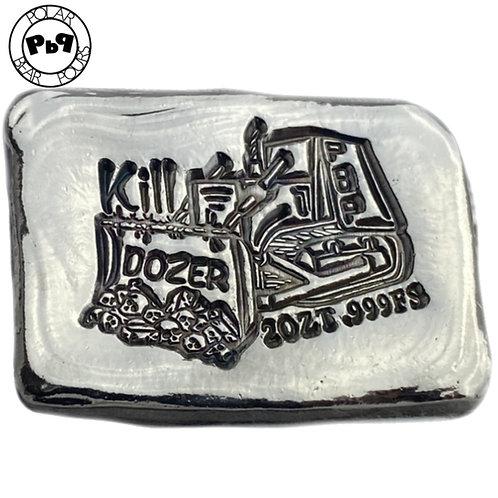 NEW! KILLDOZER 2 OZT silver bar