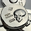 Thumbnail: 1 OZT hand poured silver high relief skull PBP round