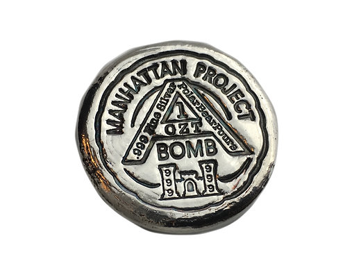 1 OZT Manhattan Project hand poured silver