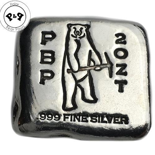 2 OZT PolarBear pickaxe silver bar