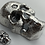 Thumbnail: 30 OZT MAMMOTH SILVER SKULL!! .999 fine silver hand poured textured skull.
