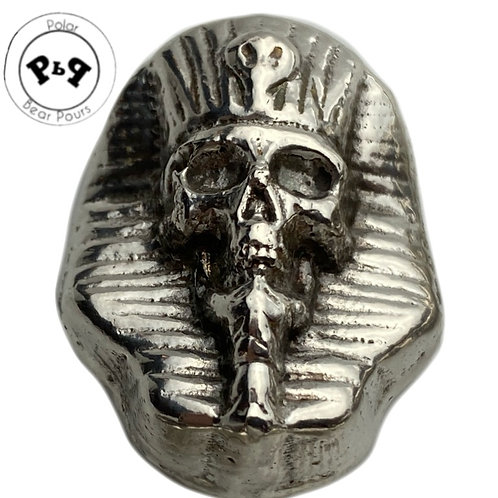 1.5 OZT silver PHARAOH SKULL