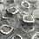 Thumbnail: 1/2 OZT Skull Fractional hand poured .999 silver bar
