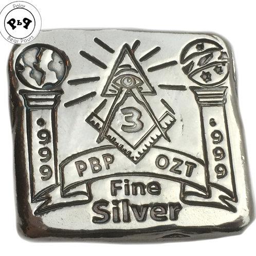 New 3 ozt Hand Poured Freemason bar