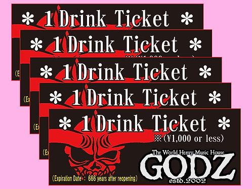 GODZ Drink Ticket ×5