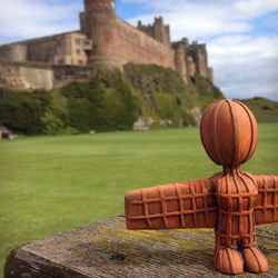 Angel of the north at Bamburgh castle.jpg