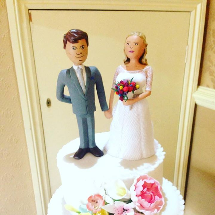 Wedding Cake toppers bespoke handmad