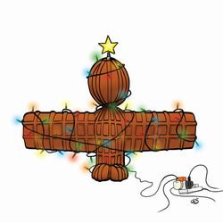 Wor Angel Christmas Card