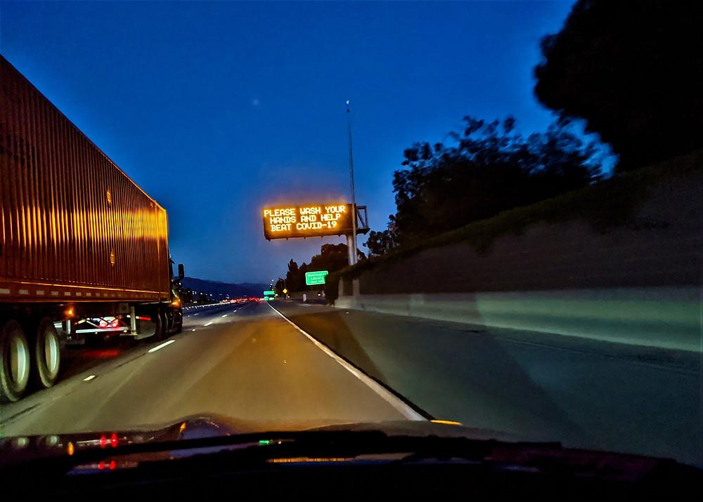 Freeway covid sign
