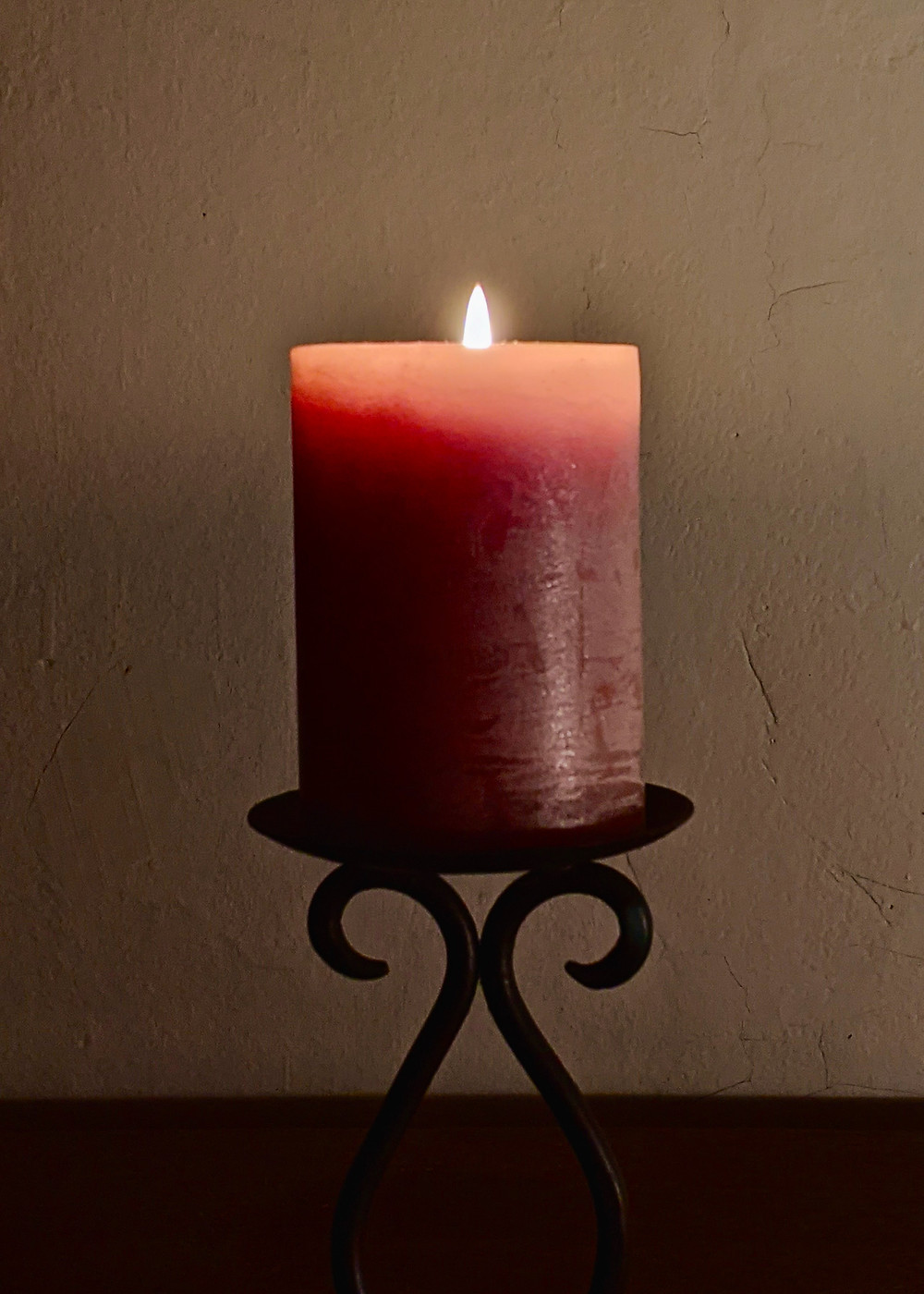 Red wax candle