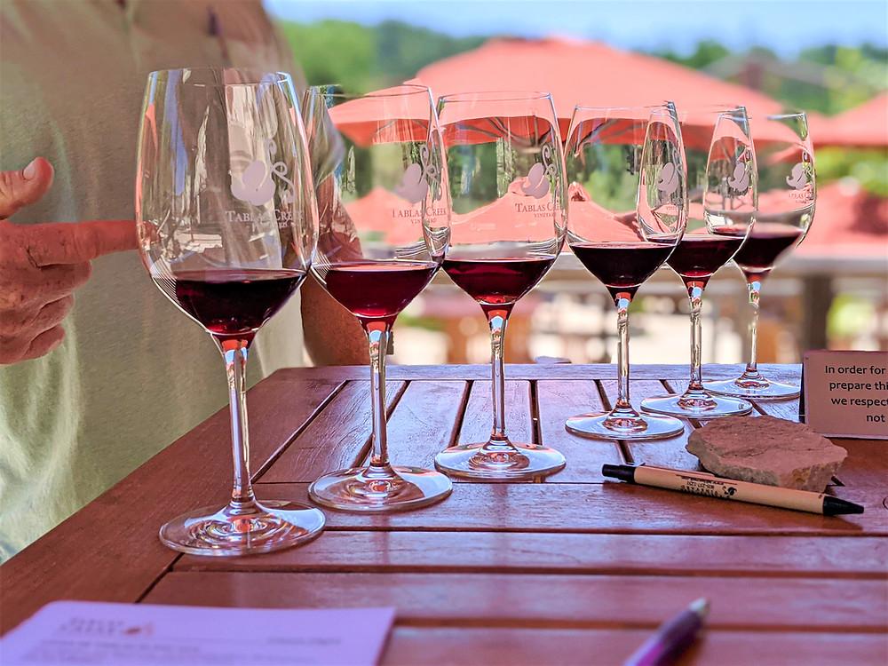 Rhone-style wine tasting