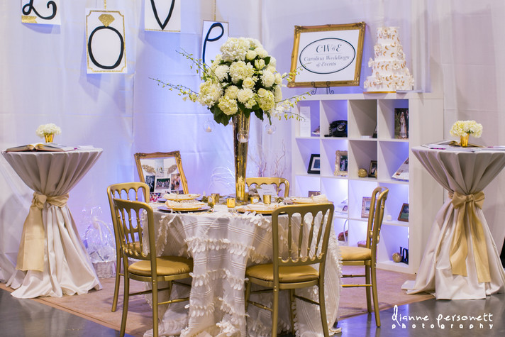 CW&E Bridal Showcase Booth Decor Jan 2014