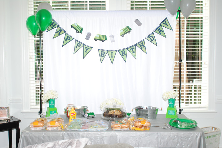 Coltons 3rd Birthday | Garbage Truck Party