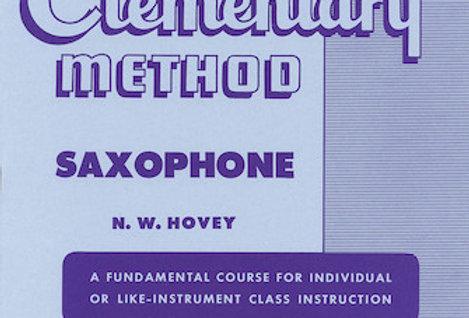 Saxophone Rubank Elementary Method