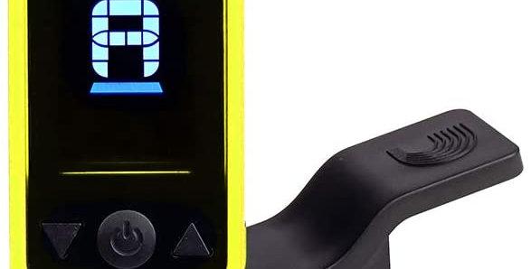 D'Addario Accessories Eclipse Headstock Tuner, Yellow