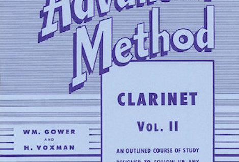Clarinet Rubank Advanced Method Vol. II