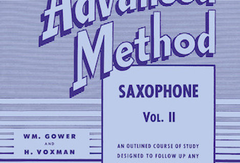 Saxophone Rubank Advanced Method Vol. II