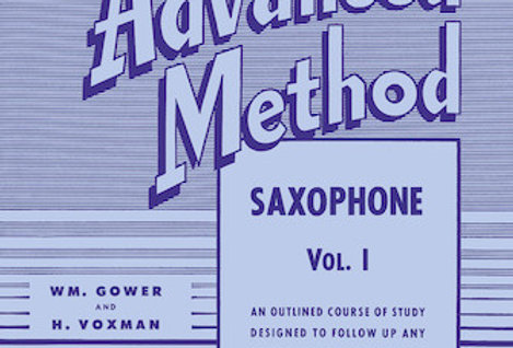 Saxophone Rubank Advanced Method Vol. I