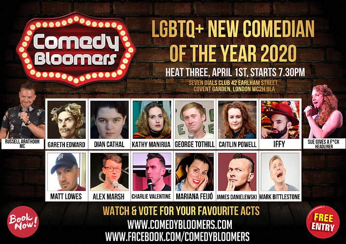LGBTQ NEW COMEDIAN OF THE YEAR 2020 LOND
