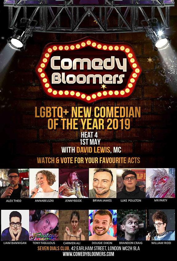 LGBTQ NEW COMEDIAN OF THE YEAR HEAT 4 FL