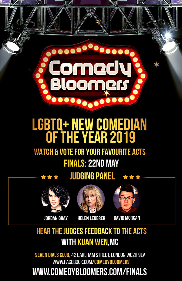 LGBTQ NEW COMEDIAN OF THE YEAR 22ND MAY