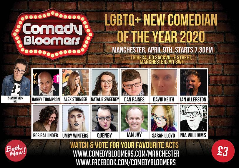 LGBTQ NEW COMEDIAN OF THE YEAR 2020 MANC