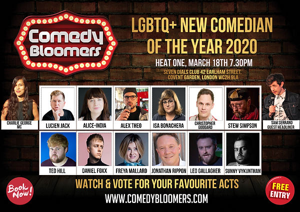 LGBTQ NEW COMEDIAN OF THE YEAR 2020 18TH