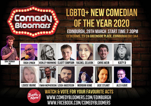 COMEDY BLOOMERS LGBTQ NEW COMEDIAN OF TH