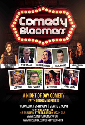 COMEDY BLOOMERS 25TH SEPTEMBER 2019 FLYE