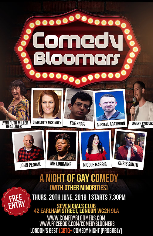 COMEDY BLOOMERS 20TH JUNE 2019 FLYER web