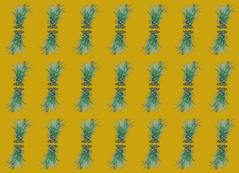 Liberated Pineapple Wallpaper Sample (2)
