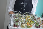 Fertig servierter Catering Service