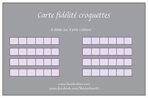 Carte De Fidelite Croquettes Pure Life