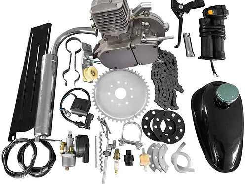 66/80cc ONE-PIECE JUG FULL ENGINE KIT - SILVER