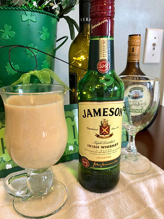 Irish coffee with Jameson's whiskey.JPG
