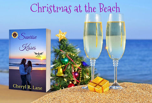 Christmas at the beach with champagne