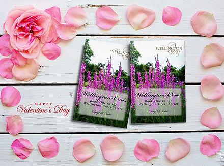 Welllington Cross all author valentine pink roses