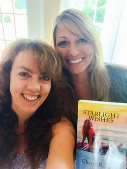 Giving Tina a copy of Starlight Wish