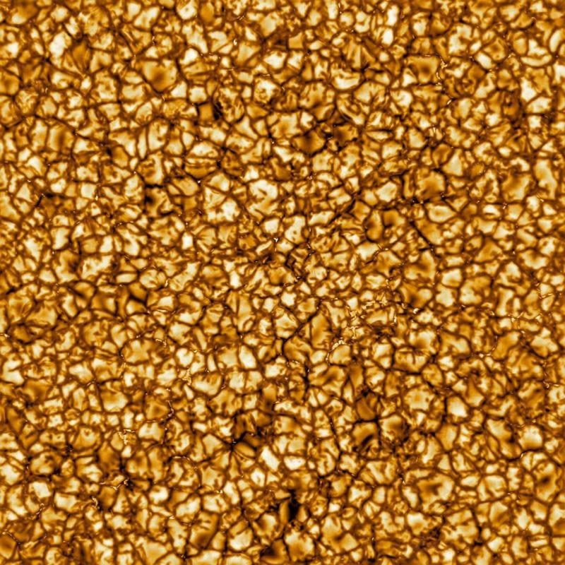 Des cellules de convection à la surface du Soleil. Image : NSO/NASA/NSF