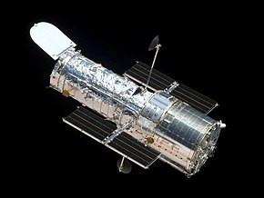 Image du Hubble Space Telescope (HST) prise depuis la navette spatiale Atlantis lors d'une mission d'entretien en 2009. Source : NASA/Hubblesite