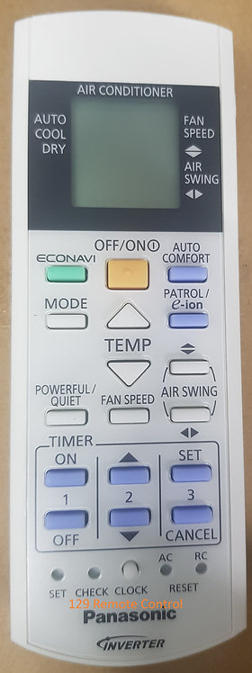 Genuine Original Panasonic AirCon Remote Control - A75C3708