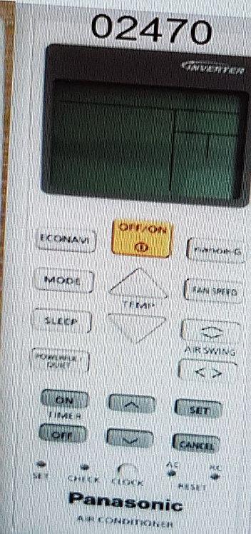 copy of Genuine Original Panasonic AirCon Remote Control
