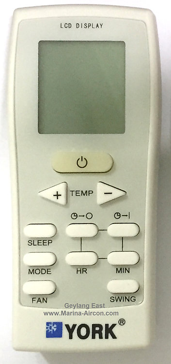 York Air-Con Remote Control