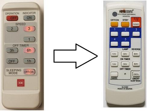KDK Remote Control Replacement for : A11YS M11SU V56VS M40MS M56SR R56SV R48SP
