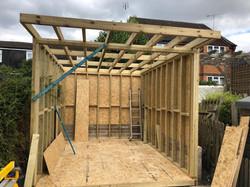 Small garden office construction phase 2