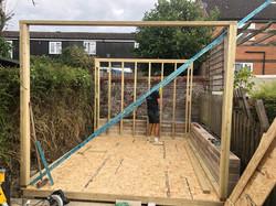 Small garden office construction phase 1